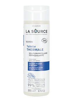 Toilette thermale eau micellaire LA SOURCE