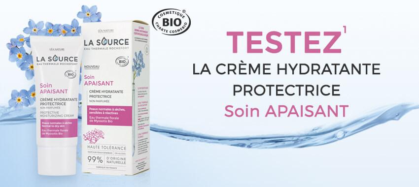 Testez la crème hydratante protectrice apaisante